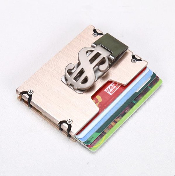 Multi-functional Metal Convenient Money Clip Wallet Men with Theft Protection Stainless Steel RFID Blocking Credit Card Case
