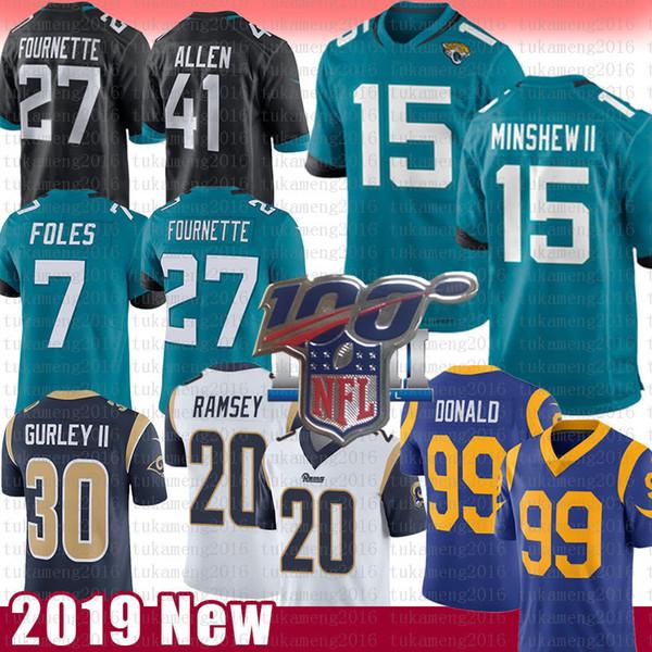 Jacksonville 15 Gardner Minshew II Foles Jaguar Jersey Josh Allen Leonard Fournette 20 Jalen Ramsey Los Angeles Aaron Ram Donald Todd Gurley