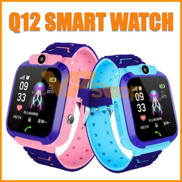 Q12 Montre Intelligente Enfants Numérique Montre-Bracelet Étanche Enfants Smartwatch En Plein Air Enfant Télécommande GPS Montres Téléphone pour IOS Android Cadeau