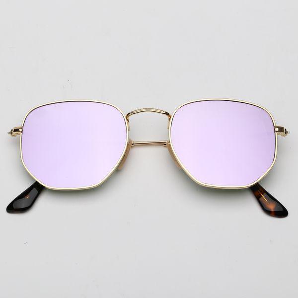 Miroir lilas et or 001 / 8O