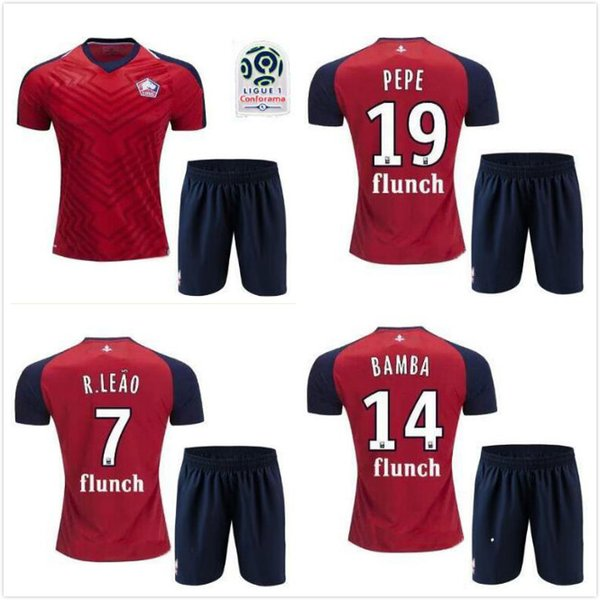 super popular 0d9e8 0d64b 2019 2018 2019 Lille Losc Kids Soccer Jerseys Kit 18 19 FC Lille Child  Jersey PEPE #19 REMY #9 Football Shirts Shorts Outdoor T Shirts From  Ggg558, ...