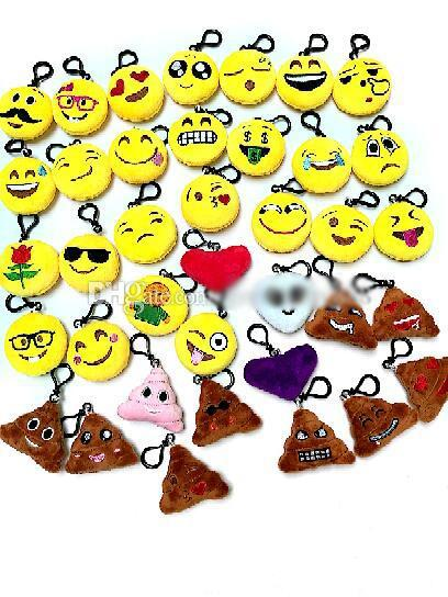 New 55 style Emoji toys for Kids Emoji Keychains Mixed Emoji Keyrings Bag pendant 5.5*2.5cm Free shipping E765 MOQ:1000pcs