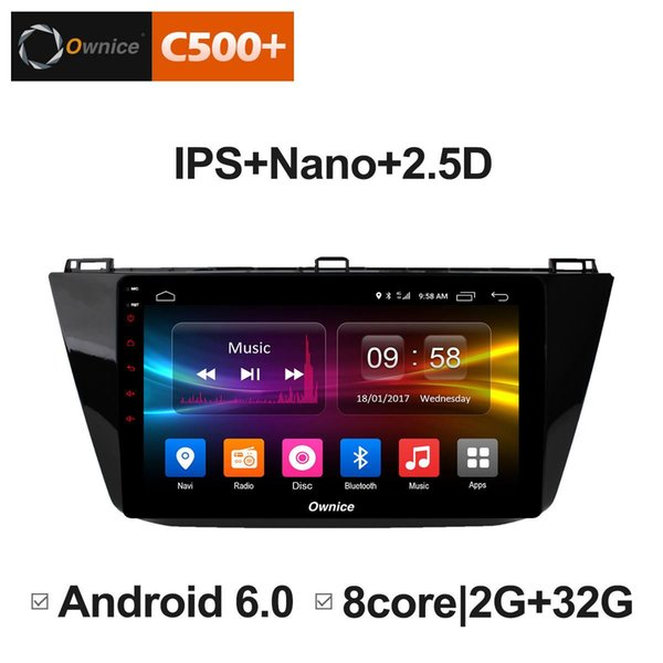 """10.1"""" 2.5D Nano IPS Screen Android Octa Core/4G LTE Car Media Player With GPS RDS Radio/Bluetooth For VW Tiguan 2017 #5838"""