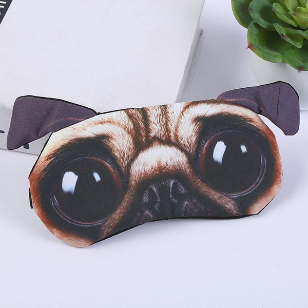 Funny Animal 3D Dogs Cats Eye Face Mask Lovely Cute Traveling Eyeshade Eye Cover Sleeping Masks Eyepatch Goggles