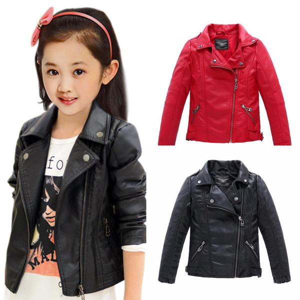 filles Vêtements de bébé manteaux pour enfants Faux vêtements de dessus en cuir Vêtements pour enfants 2019 mode printemps et vestes enfant automne 2