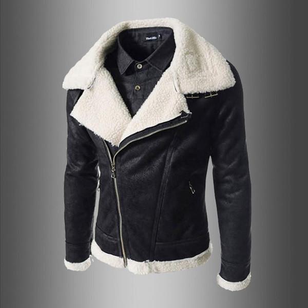 Pour Moto Peau En Vestes Manteau Hommes Pour Hommes En Acheter De Mouton En Manteau Mâle Pop Cuir 2019 Hommes D'hiver Élégant Zipper Cuir Manteau qSzVMUp