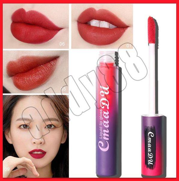 2019 marca cmaadu lábio maquiagem batom lip gloss batom 3.5 ml de duração natural de veludo hidratante 10 cores
