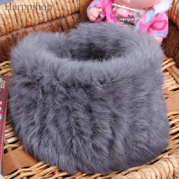 Fur muffler scarf pullover women's autumn and winter thermal rex rabbit hair scarf false collar luxury D19011106