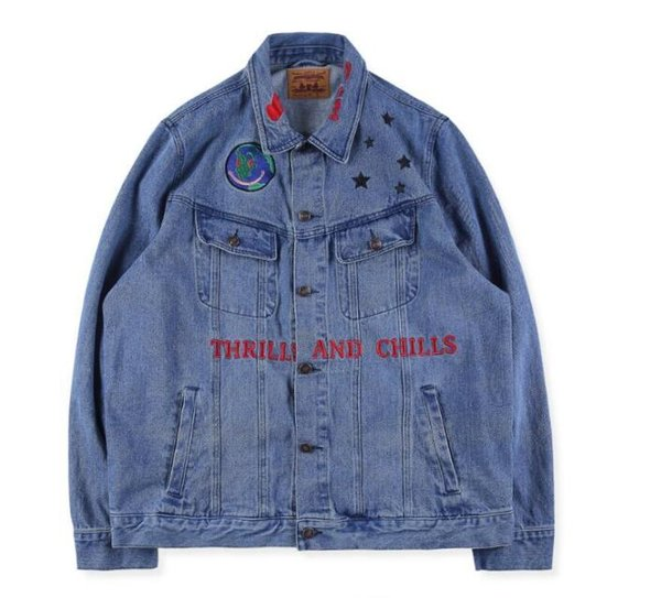 clear-cut texture authorized site elegant shape 2019 Astroworld Jeans Jackets Travis Scott Denim Coats Men Women Bomber  Graffiti Denim Jackets High Quality Hip Hop Astroworld Coats Jean Jacket  With ...