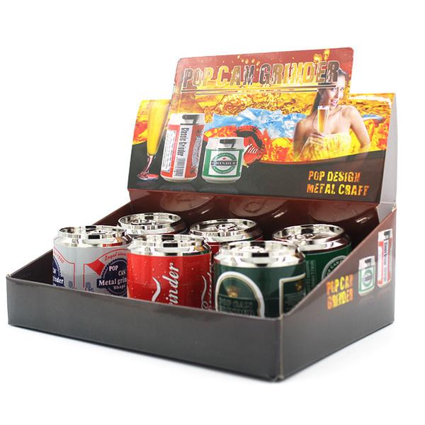 Оптовая продажа табака 52 мм кофемолка кока-кола поп-корка трава пыльца специи дробилка 4 слой ручной мулл мясорубки высокое качество