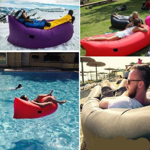 Vendita calda Gonfiabile Outdoor Divano Lazy Air Divano a pelo Lounger Bag Camping Beach Bed Beanbag Sofa Chair
