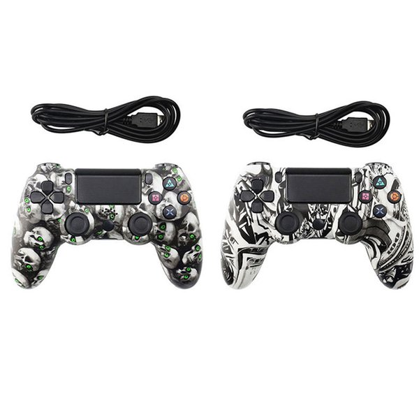 Wired Controller for PS4 Vibration Joystick Gamepad PS4 Game Controller for Sony Play Station Private Model Gamepad skull Girl high quality