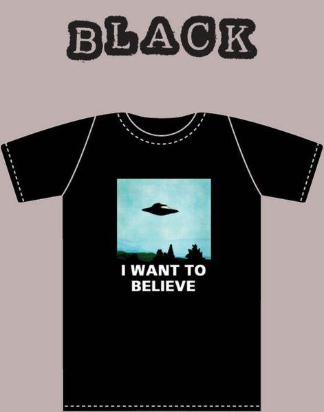 Voglio credere Xfiles T Shirt PosterFunny Maglietta casual Unisex
