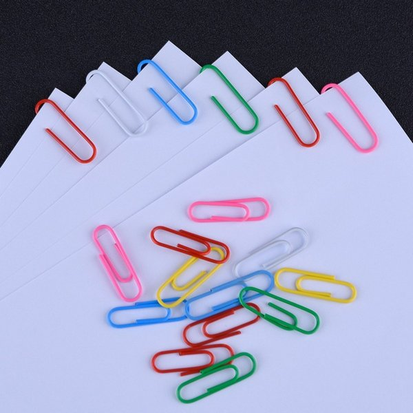 Bunte Binder Clips 28MM Silber vernickelt Büroklammer Lesezeichen Memo Clips Filling Supplies 1000 Stück ePacket