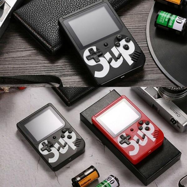 Çift halklar SUP oyunları Konsolu Mini El Oyun Kutusu Taşınabilir Klasik video oyun oyuncu 3.0 Inç Renkli Ekran 400 oyunlar AV-out