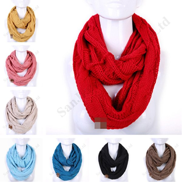 Winter Warm Knit Scarf Knitted Scarves Loop Scarfs Neck Wrap,Red
