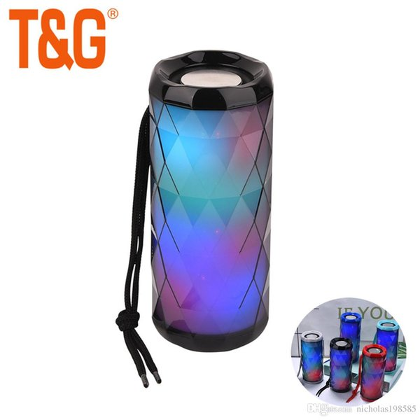 TG167 Pretty LED Light Wireless Bluetooth Speakers Stereo Subwoofer Hifi Musci player Protable Outdoor Mp3 Music Player TF Card USB FM MIC