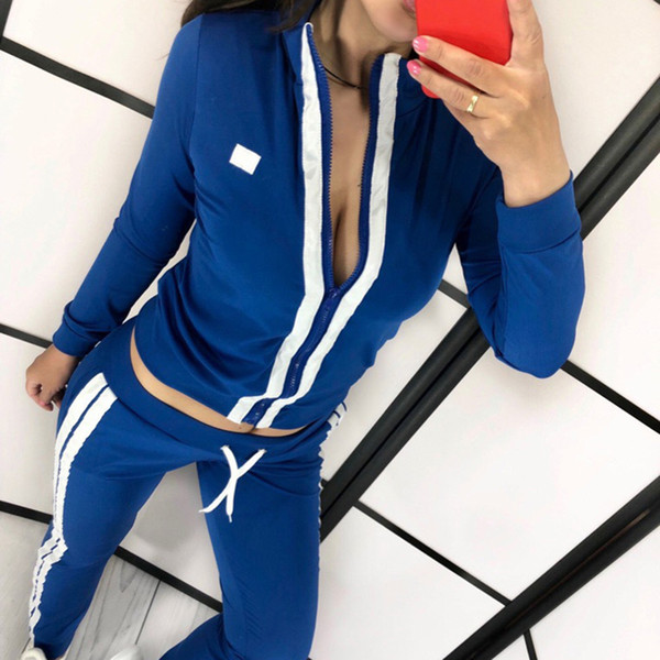 2019 herbst langarm sport laufanzug frauen trainingsanzug yoga set fitness kleidung sportbekleidung yoga conjunto deportivo mujer