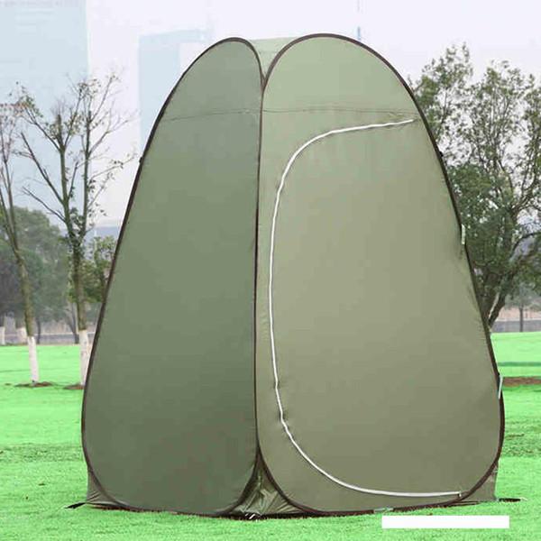 Taşınabilir su geçirmez Büyük Açık Banyosu Değişim Giyim Çadır duş Balıkçılık Mobil Tuvalet Çadırlar yeşil renk hafif