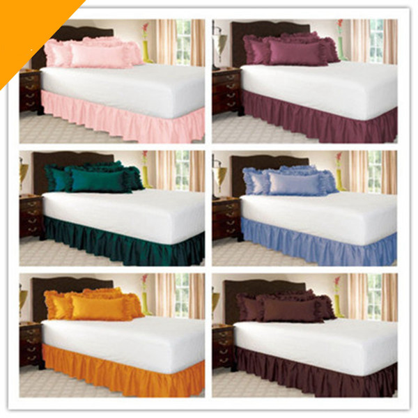 1/2pcs Bed Skirt Wrap Around Elastic Bed Skirt Without Bed Surface Twin /Full/ Queen/ King Size 38cm Height