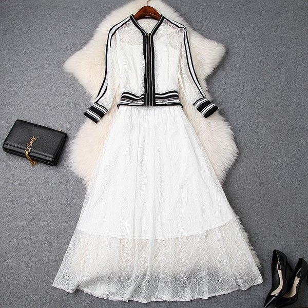 KAH03262 Fashion women's Sets 2019 Runway Luxury famous European Design party style women's Clothing