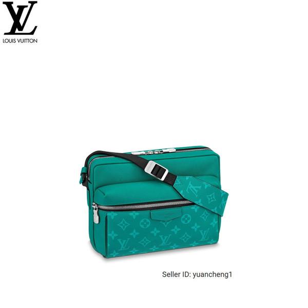 M30241 2019 Nuevo bolso de mensajero al aire libre de cuero verde Taïga Bolsos Bolsos Asas superiores Bolsos de hombro Totalizadores Bolso cruzado de noche