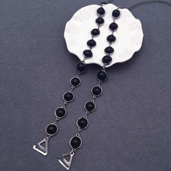 Remplacement de la chaîne d'épaule perlée perlée de luxe avec bretelles de soutien-gorge décoratif de luxe, amovible et réglable