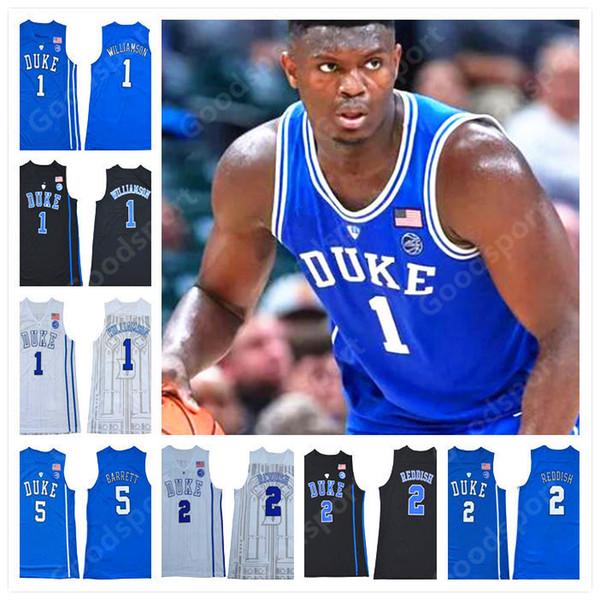 NCAA COLLEGE Blauer Böse genäht DUKE Zion Williamson R.J. Barrett Cam Rötlich IRVING ALLEN INGRAM PARKER SHIRTS Trikots 2019 heißer CLASSIC NEU