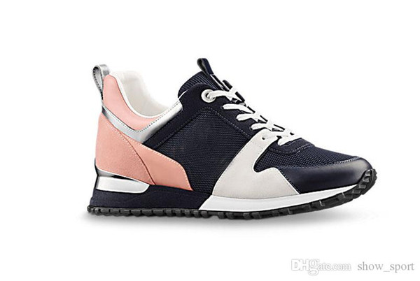 New Hot Luxury Popular Leather Casual Shoes Women Men Designer Sneakers Shoes Fashion Leather Lace Up Shoe Mixed Color With Box
