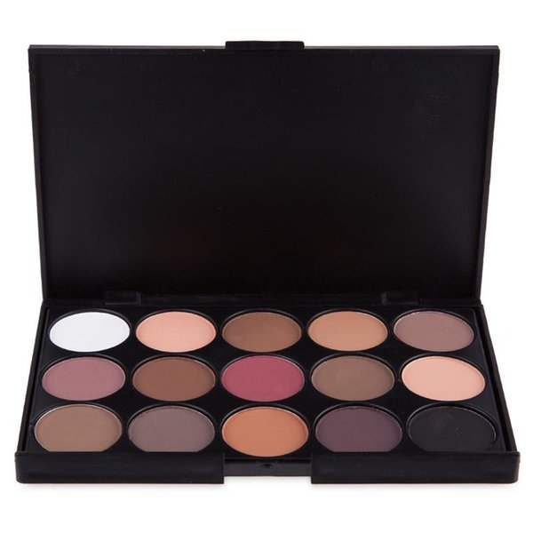 15 colors eyeshadow with eye shadow brush the earth smoky palette pearl-light makeup tray set foreign trade top seller 200