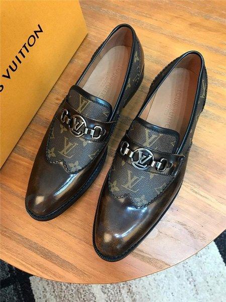Flats Düğün aylaklarının 38-45 Walking A8 Markalar Moda Kırmızı Alt Ayakkabı Greggo Orlato Düz Gerçek Deri Oxford Ayakkabı Erkek