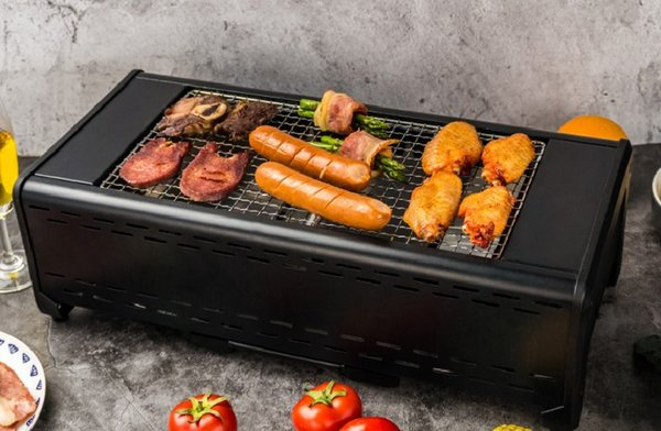 Infrared Household Smokeless Electric Barbecue Oven BBQ Grill Barbecue Fish Roaster 023