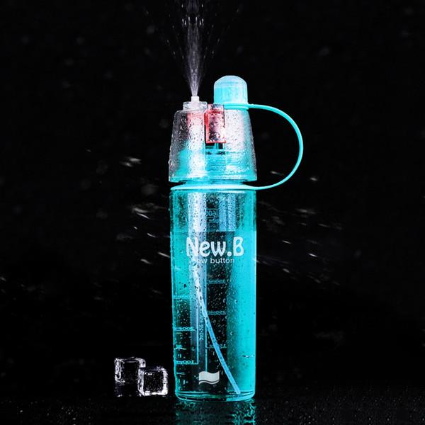 Garrafa de Água de refrigeração de Saúde Portátil de Suco De Limão Frutas Beber Garrafa de Plástico spray de Névoa Chaleira Copo Esporte Ao Ar Livre Correndo Caminhada Garrafa de Água