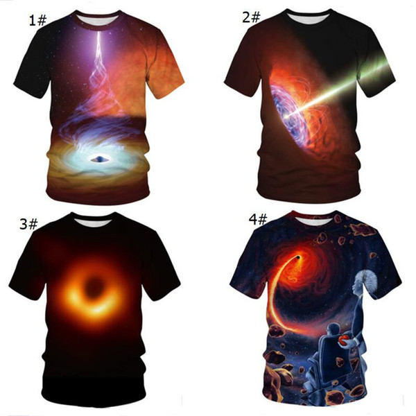 Black Hole 3D Print Mens Womens T Shirts 2019 Fashion Einstein Space Printed Tee Top Short Sleeve Lovers Casual Tshirts S-3XL Hotsell A41804