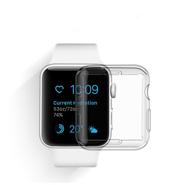 Cubierta transparente transparente transparente universal cristalina transparente para el reloj elegante Funda protectora de silicona protectora de silicona para Apple iWatch WWG2