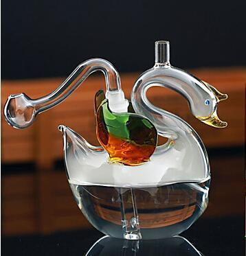 Vetro Dab Rigs Multifounction Bruciatore a olio Mini vetro Narghilè fumo tubo Bong con Cigeratte Holder Artigianato a mano narghilè Swan spedizione gratuita