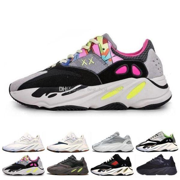Inertia 700 Kanye West Wave Runner Статический 3 м Светоотражающий Mauve Сплошной Серый Спортивные кроссовки Мужчины Женщины Спортивные кроссовки Обувь Размер 36-46