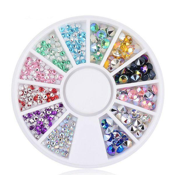 1pcs Couleur mixte Silver Point Drill ongles Colle Rouge Verni Gris Soak Off UV Gel Polish Laque Manucure Nail Art # 011 Vernis outil