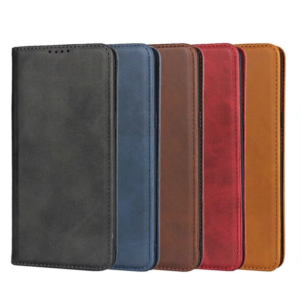 Genuine Real Leather Case For iphone XS MAX XR X 7 8 Plus Vintage Magnetic Flip Wallet Phone Case For Samsung Galaxy S10 5G S10E S8 S9 Note9