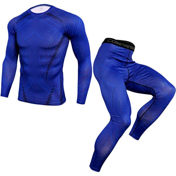 New jogging thermal underwear set quick-drying training T-shirt leggings alliance set 2019 autumn and winter new sportswear bran