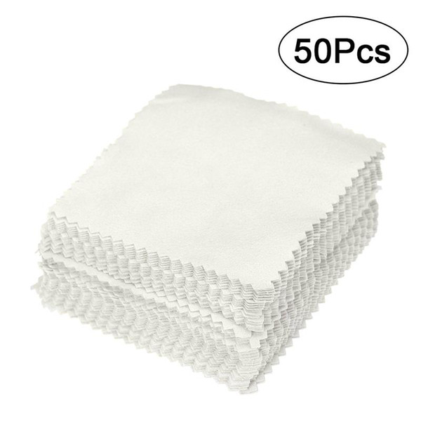 Home & Garden 50 Pcs Cleaning Cloth Silver Gold Jewelry Cleaning Cleaner Polishing Cloth Anti Tarnish DIY Making Tools Jewelry accessories