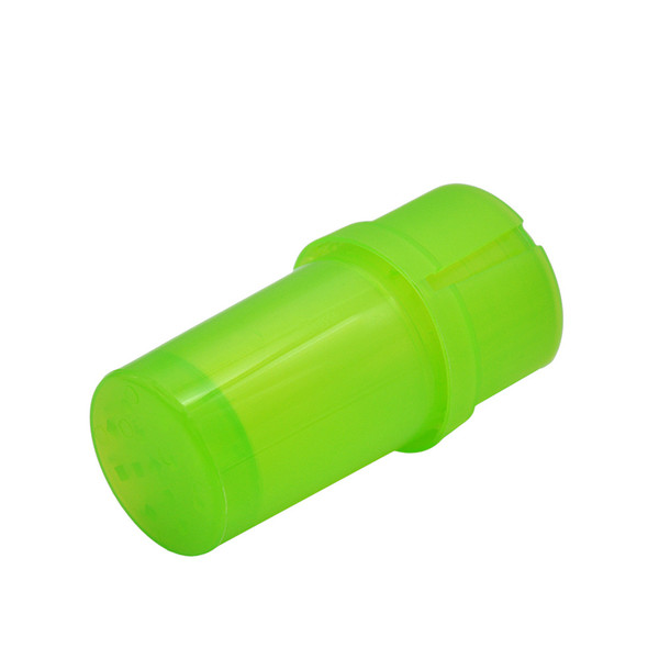 top popular wholesale Bottle Shape Plastic Grinder Water Tight Air Tight Medical Grade Plastic Smell Proof Tobacco Herb plastic Grinders factory price 2021