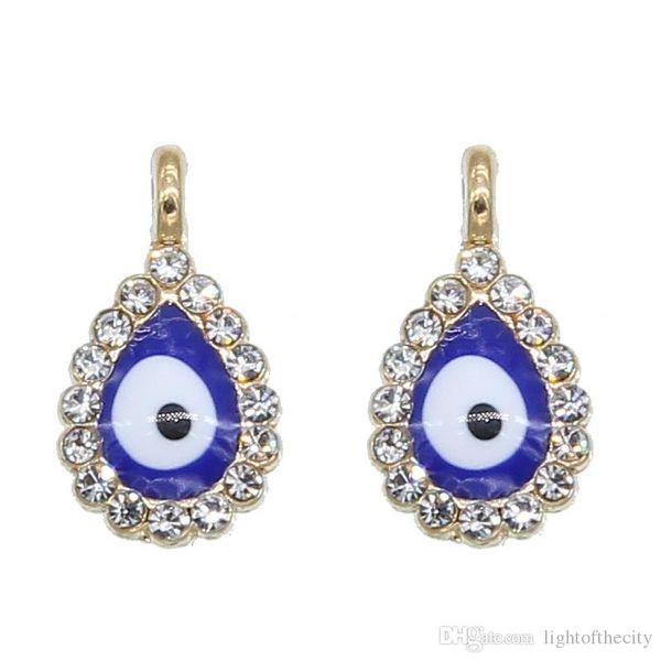 50pcs New Turkey Evil Eye Necklace Bracelet Pendant Accessories Blue Fashion Jewelry Protection Men's and Women's Handmade wholesa