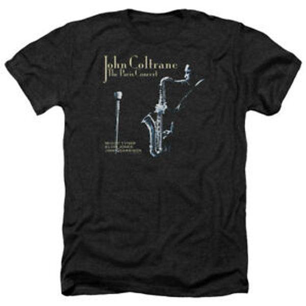 John Coltrane The Paris Concert Album Cover Heather T-Shirt All Sizes