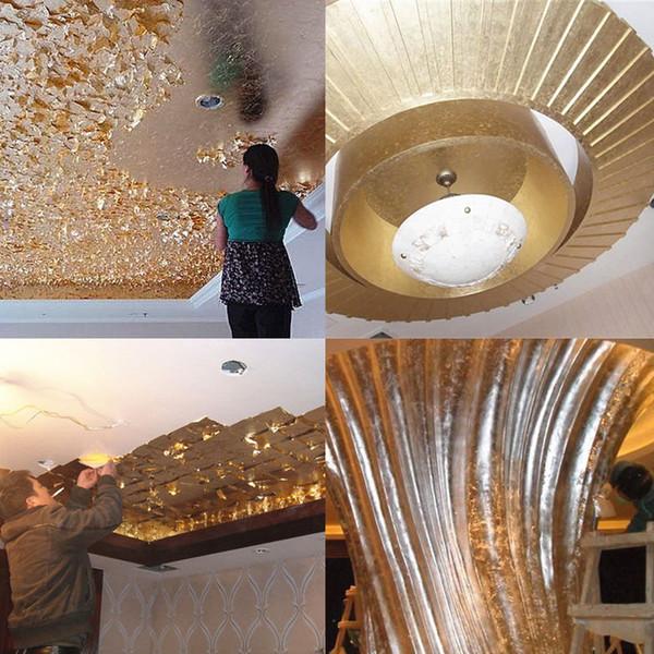 1 stücke 14x14 cm Kunsthandwerk Papier Nachahmung Gold Splitter Kupfer Blatt Blätter Blätter Folie Papier für Vergoldung DIY Handwerk Dekoration