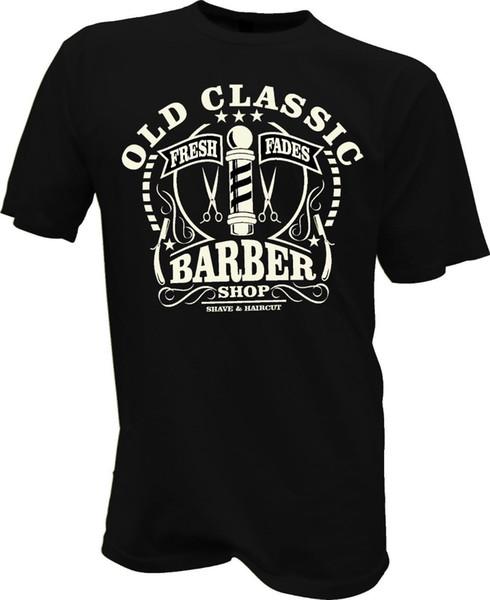 T-Shirt Sakal Kafatası Friseur Berber Biker Retro Bart Berber Yeni Erkekler Moda Erkekler Marka Spor Slim Fit T Shirt