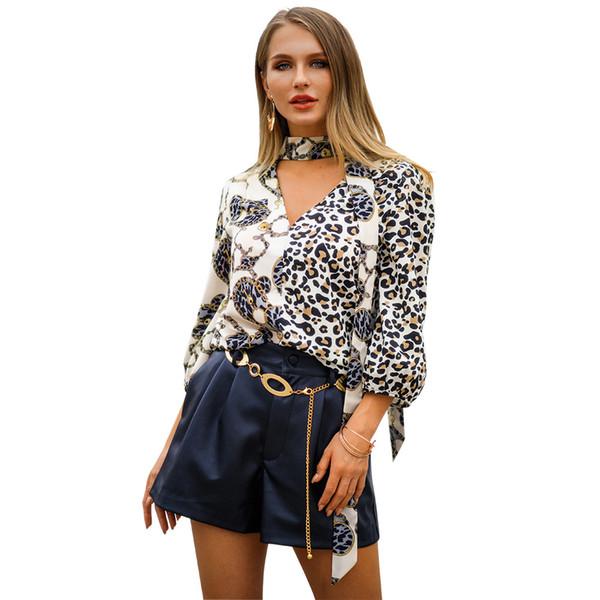 Womens designer t shirts t shirt clothes of white clothing white tshirts spring and summer V-neck fashion big-name popular long-sleeved