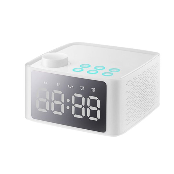 New Multifunctional Stereo Bluetooth Speaker with Alarm Clock Time Display FM Radio for Home Office SF66