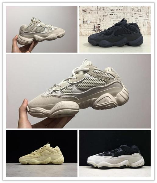 Adidas Yeezy500 Desert Çöl Sıçan 500 3 M Supper Ay Sarı Allık Yardımcı Siyah Erkek Tasarımcı Ayakkabı Koşu Sneakers İnek Deri Spor Rahat ayakkabılar 36-46