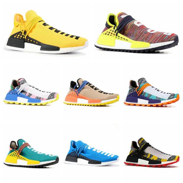 Großhandel Adidas Pharrell Williams X NMD Human Race Trail Human Race Laufschuhe Für Herren Pharrell Williams Probe Gelb Core Schwarz Sport Designer